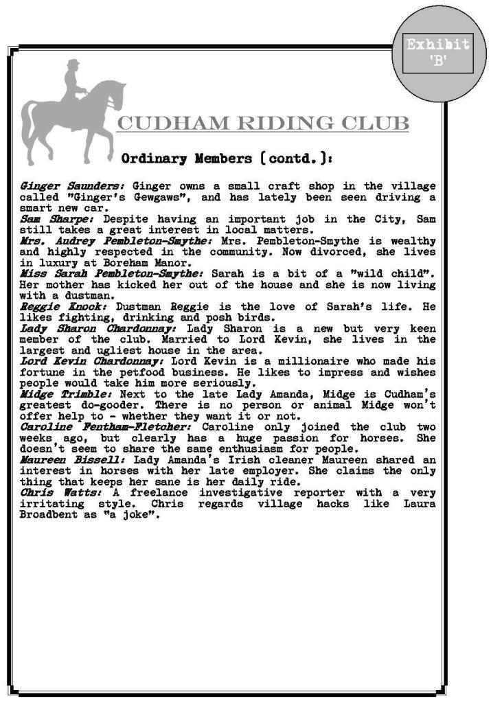 Cudham Riding Club guest list Page 3