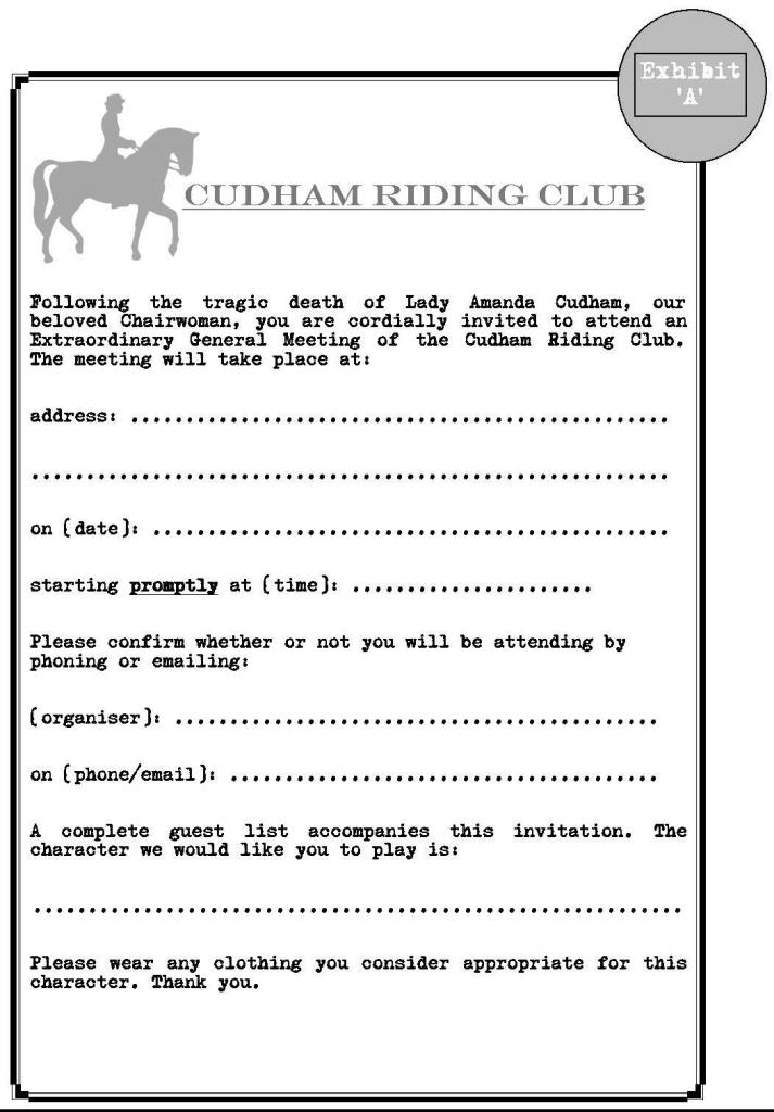 Cudham Riding Club invite