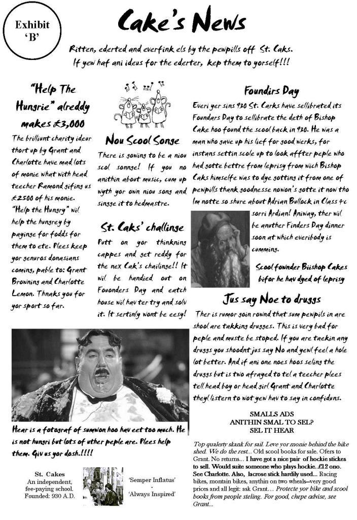 St. Cakes School Magazine