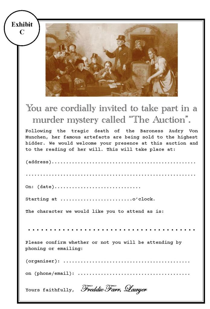 The Auction invite