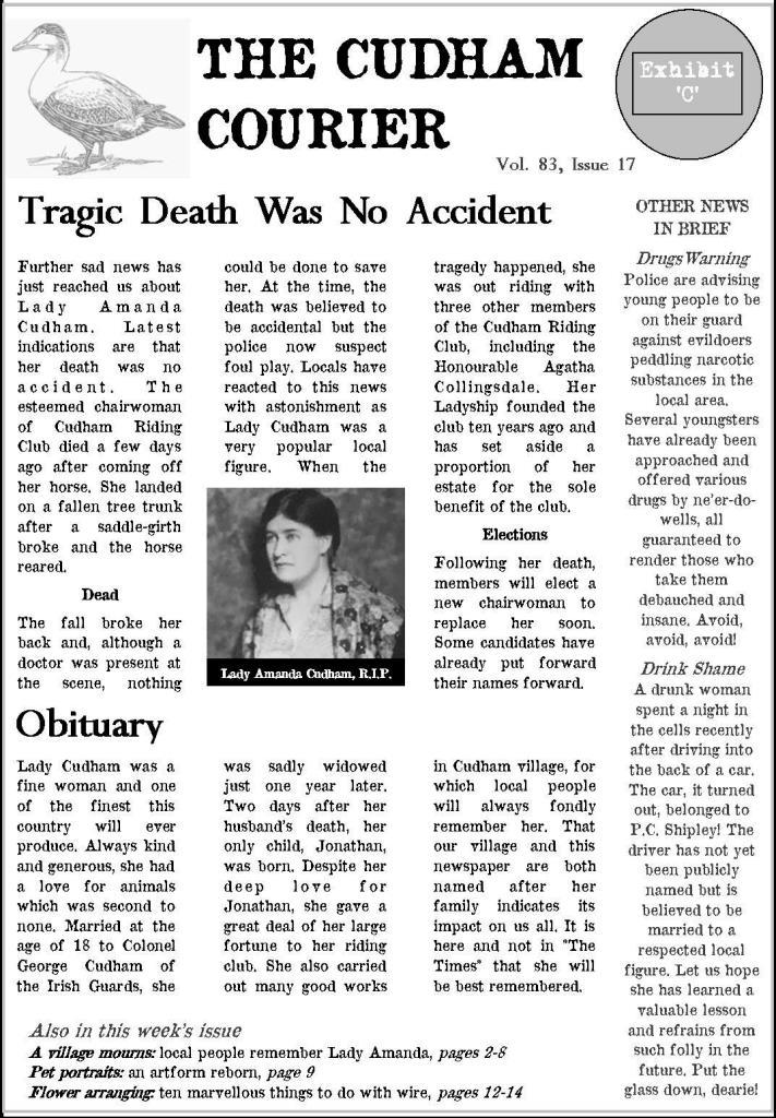 Cudham Courier newspaper